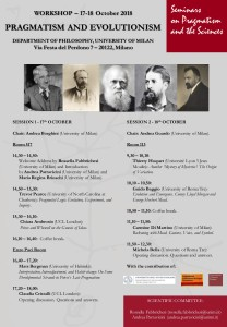 Pragmatism and Evolutionism 17-18October 2018-Final